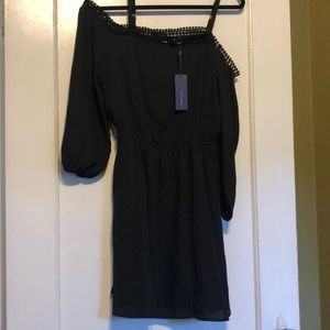 NWT Rebecca Minkoff cold shoulder dress sz4,